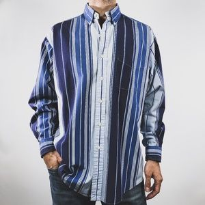 VTG Ralph Lauren Polo Blake Blue Stripe Shirt M